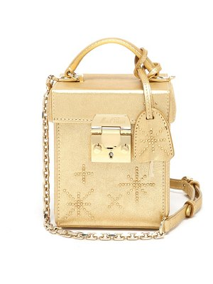 Mark Cross grace cube crystal-embellished leather handbag