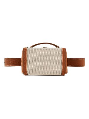 Mark Cross Grace Leather/Cotton Box Belt Bag