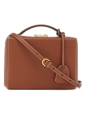 Mark Cross grace small box leather shoulder bag