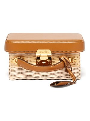 Mark Cross Grace Small Leather And Wicker Box Bag