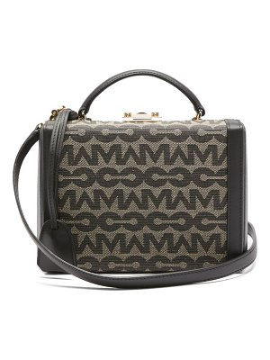 Mark Cross grace small logo-jacquard & leather box bag
