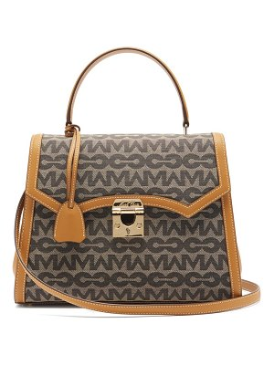 Mark Cross madeline lady mc-jacquard and leather handbag