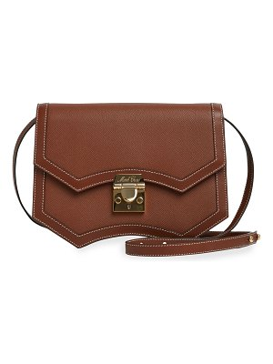 Mark Cross Madeline Structured Leather Crossbody Bag