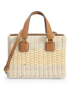 Mark Cross manray small straw tote