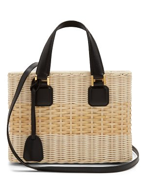 Mark Cross Manray small wicker basket bag