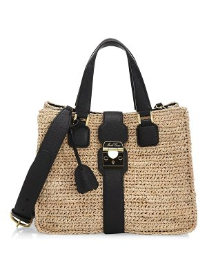 Mark Cross medium riviera raffia tote bag