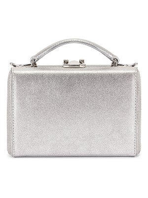Mark Cross mini grace metallic nappa box bag