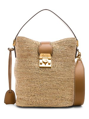 Mark Cross Murphy Raffia Bag