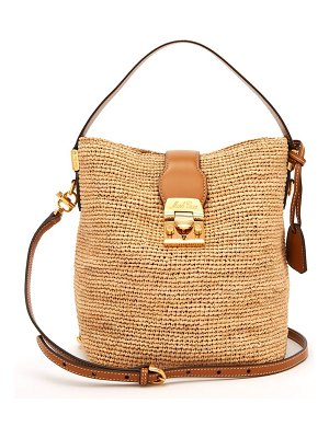 Mark Cross Murphy Raffia Bucket Bag