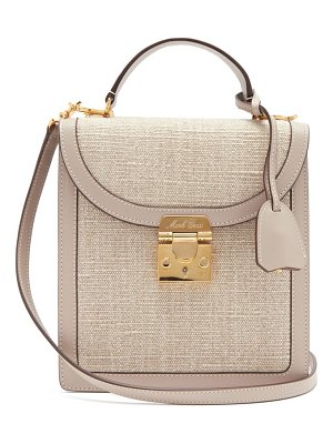 Mark Cross uptown leather-trimmed canvas cross-body bag