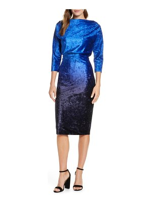 Mark + James by Badgley Mischka ombre velvet blouson dress
