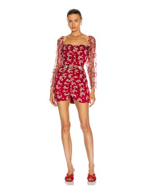 Markarian camille hearts ruched mini dress