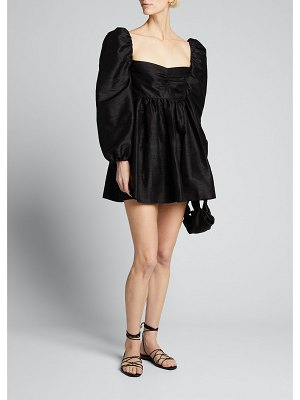 Markarian Sweetheart-Neck Fit-and-Flare Mini Dress
