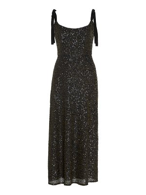 Markarian veronica sequined silk-chiffon midi dress