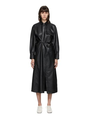 Markoo ssense exclusive  faux-leather snap front dress