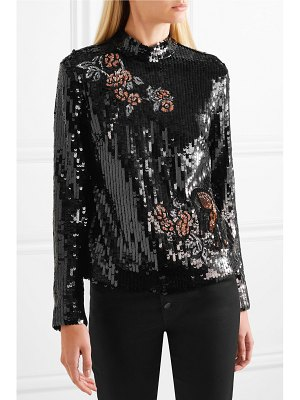 Markus Lupfer valentine sequined tulle top