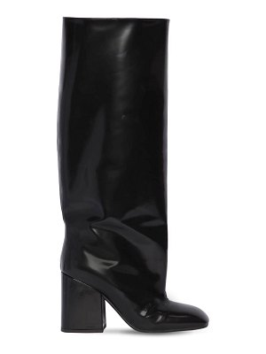 Marni 90mm tall brushed leather boots