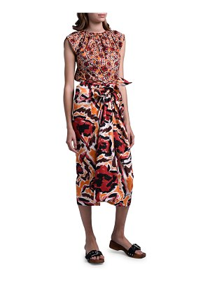 Marni Abstract Print Poplin Tank Top