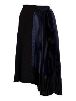 Marni asymmetric pleated midi skirt
