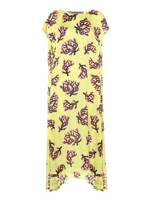 Marni Asymmetric printed midi dress