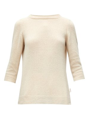 Marni boat-neck crop-sleeved sweater