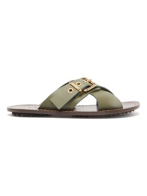 Marni buckled crossover leather sandals