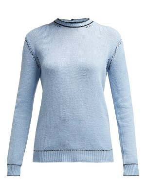 Marni buttoned back cashmere sweater
