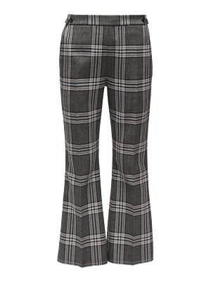Marni cropped checked wool flared trousers