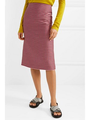 Marni checked woven midi skirt