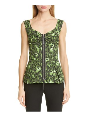 Marni cheetah camo print stretch cotton tank