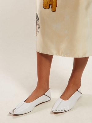 Marni collapsible back studded leather flats