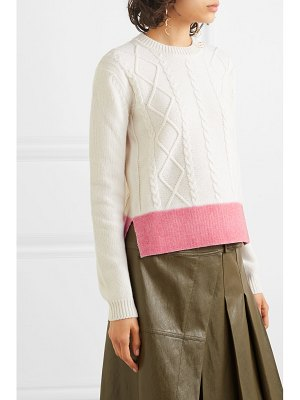 Marni color-block cable-knit wool sweater