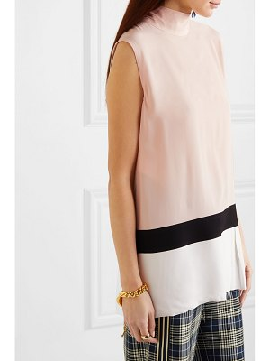 Marni color-block washed-crepe top