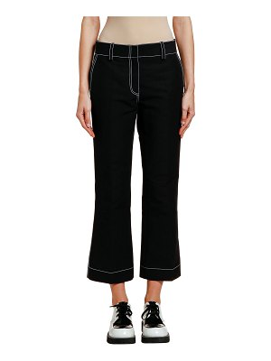 Marni Contrast-Stitched Cotton Trousers