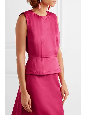 Marni cotton-sateen peplum top