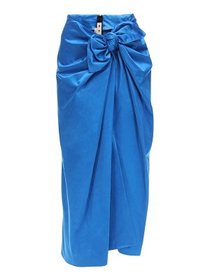 Marni Draped duchesse skirt w/ bow