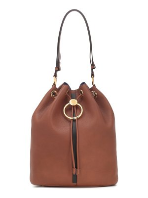 Marni earring leather bucket bag