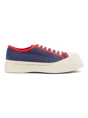 Marni exaggerated cotton-canvas trainers
