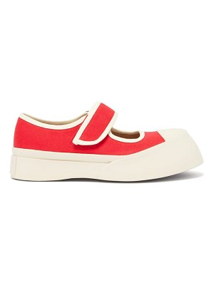 Marni exaggerated mary-jane canvas trainers