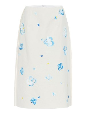 Marni floral cotton blend midi skirt