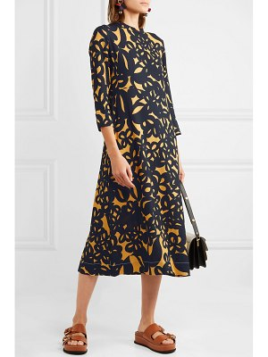 Marni printed crepe midi dress