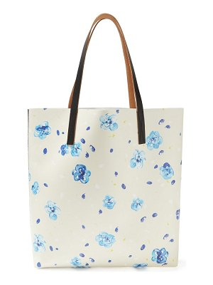 Marni floral print leather tote