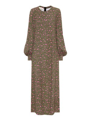 Marni Floral printed crêpe maxi dress