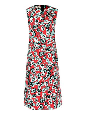 Marni floral-printed sleeveless cotton-blend dress