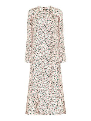 Marni floral silk midi dress