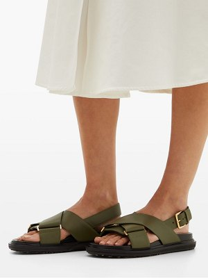 Marni fussbett leather sandals