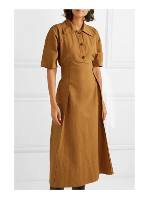 Marni gathered canvas midi dress
