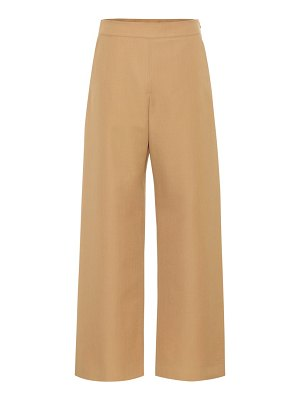 Marni High-rise wide-leg wool pants