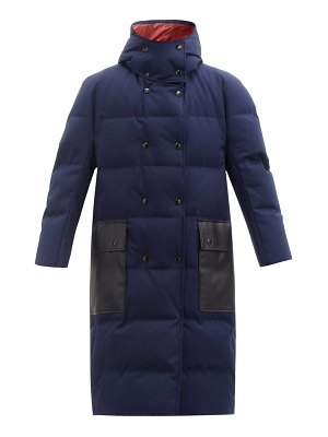 Marni hooded contrast-pocket quilted down coat