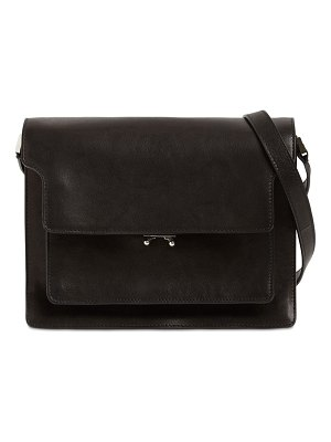 Marni Large soft trunk smooth leather bag